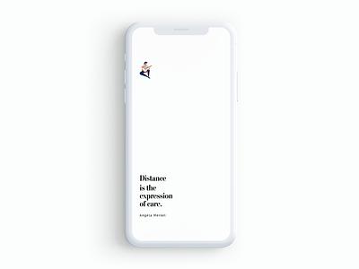 #StayHome Splashscreen typography ux ui app minimalist splashscreen covid19 covid