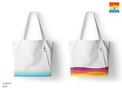 Beachbags   Explore Dobrogea romania dobrogea labels tourism travel colorful explore beach bag