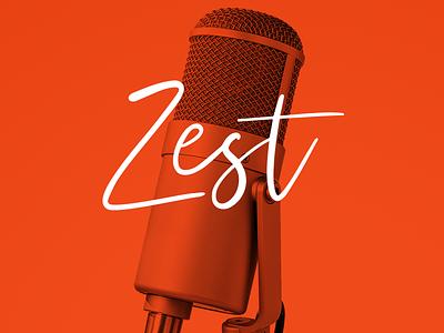 Zest Podcast Identity spotify copywriter writing logo design identity podcast branding logo