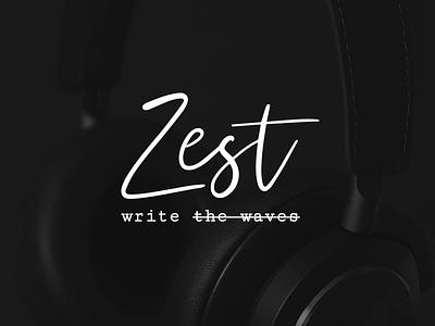 Zest Identity [en] podcasting podcast cover podcast typography logo design identity logo branding