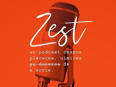 Zest Podcast Cover podcast cover podcast logo spotify podcast typography logo design identity branding