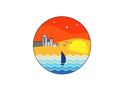 Comuna Sarichioi - New logo illustration travel colorful design identity branding romania beach summer icon logo design logo