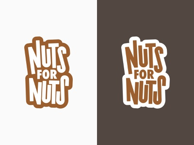 Nuts for Nuts - Logo Design logotype graphic design vector design lettering typographic logo typographic typogaphy logodesign logo design logo nuts