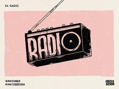 Inktober - 04. Radio handlettering gritty radio letters art digitalillustration digitallettering digitalart lettering design illustration inktober2020 inktober ink