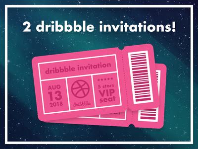 2 Dribbble invitations!