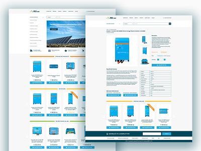 MCI Grup Webshop solar energy solar panel website layout layout web designer web designs webdesigns website concept webshop product page online shop ui design ui webdesign web design website design website web design