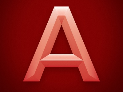 The Letter A by Mike Stinson Dribbble