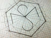 M.S. Personal brand logo design sketch