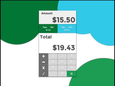 Daily UI Challenge 4 - Calculator