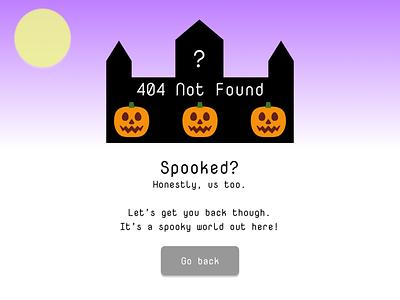Daily UI Day 8 - 404 Page 404 error 404 design dailyuichallenge dailyui