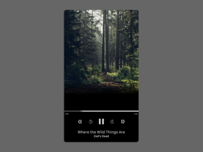Daily UI Day 9 - Music Player