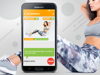 Abs Fitness App Main Screen