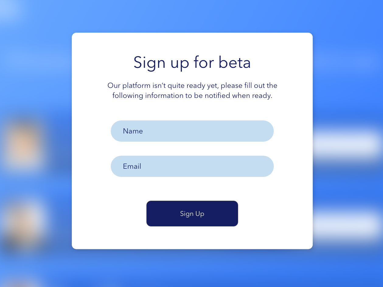Sign up for beta healthapp dailyui dailyui 001 signup