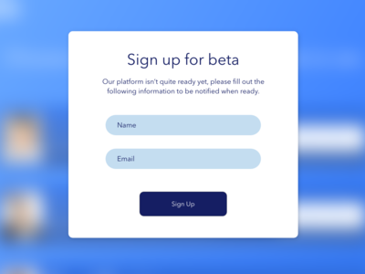 Sign up for beta