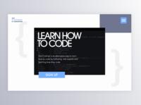 Coding Bootcamp concept sketch