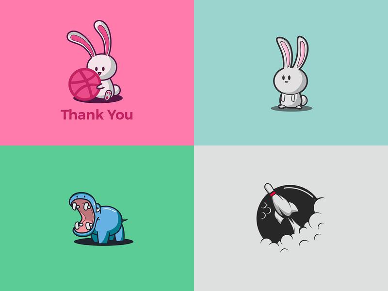 Top 4 2018 branding design 2018 character illustration logo mascot cute