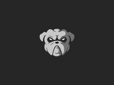 Bulldog icon ux character branding ui design illustration mascot pugs flat logo vecor dog