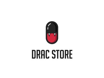 drac store web app icon branding ux ui vector illustration logo drugs drugstore