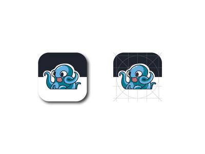 Octo icon web app ux ui icon character design illustration mascot cute octopus