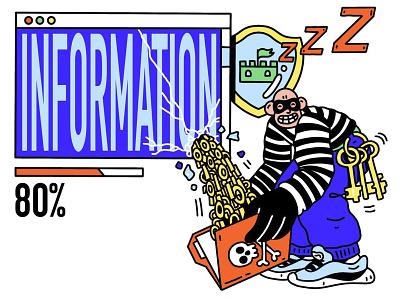 Утечка информации 2020 system procreate loading information web office abstract person work character design illustration ukraine