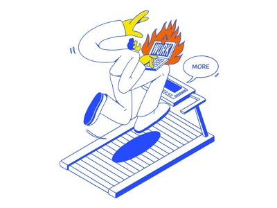 More! 2021 website more web fire character design office drawing work character illustration