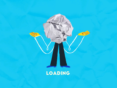 Loading... 2021 loading gif computer crumbledpaper office abstract work person character design