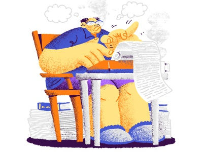Writing Journalist 2019 website typewriter ukraine brain time only information color paper journalism journalist writing text person work illustration drawing character design character