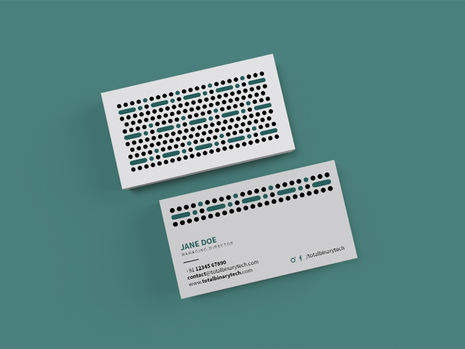 Total Binary Technologies - Business Card Design⁣ web service branding pattern design flatlay simple business card design brand identity b2b minimal branding visual identity brand design