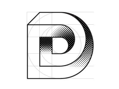 Personal Branding white black branding typography letter d illustrator impossible geometry escher logo
