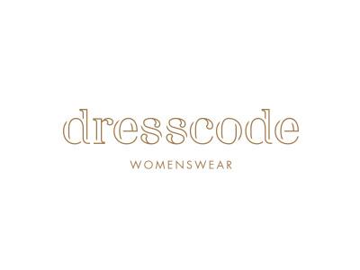 Dresscode (work in progress) dress womenswear typo type gold branding clothes clothing logo