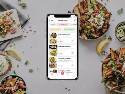 Mobile App / Food Delivery minimal simple uxdesign uidesign application delivery service delivery app food delivery food app mobile app app design ui  ux uiux web app animation app ios design ux ui