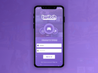 Twitch iOS Concept (Sign In page)