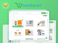 Backtocart.co / Material UI Design