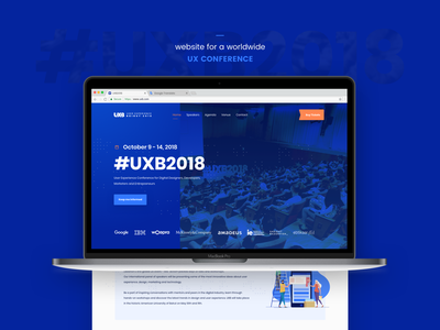 #UXB2018. Worldwide UX Conference 5cube conference website interface ux ui