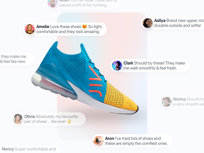 Product Recommendations modern glassmorphism blur suggestion light shadow blurred glass social shopping mobile comment message card picture profile design ui  ux product