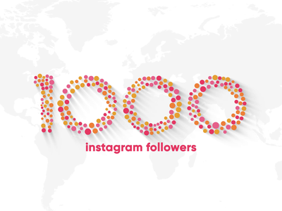 1000 Followers after effects burst followers thank you design logo animation globe travel morph shape circle dots instagram love heart motion world animation