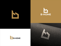 B - Home Logo Design monogram business abstract vector design logo architecture architect building company office estate real house home