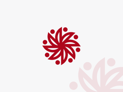 Red Flower Logo Design!