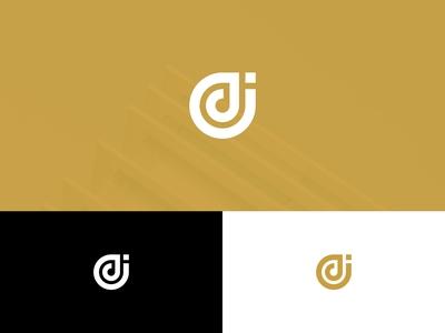 Letter DJ Monogram Logo Design