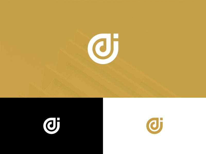 Letter DJ Monogram Logo Design art font typography app branding icon alphabet type illustration shape business abstract vector design gold logo monogram jd dj letter