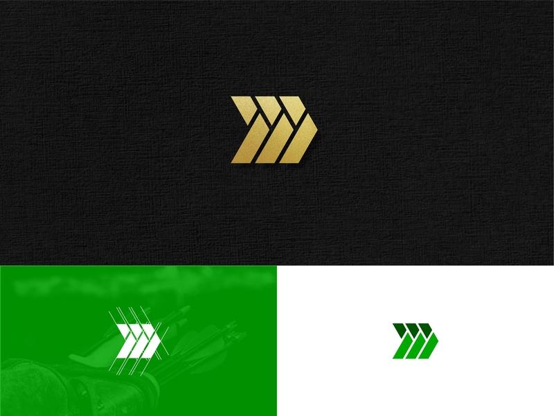 Mahdi Archery Bow Logo Design font alphabet shape letter illustration business abstract monogram vector design logo asian arabic islam respect sport archer bow archery mahdi
