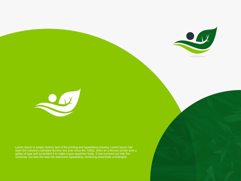 Fly Leaf Logo Design art shape abstract monogram business company vector design logo green farm landscaping organic natural bio eco tree leave leaf fly