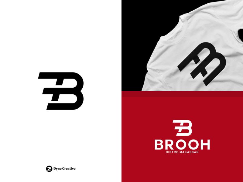 Brooh Logo Design - Distro Makassar Indonesia. typography art tshirt shirt wear clothing brand clothing distro branding type font alphabet illustration letter shape business abstract design vector logo