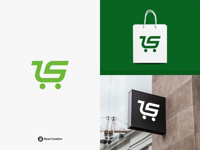 Troley Shope Logo Design type font alphabet art illustration letter shape monogram abstract vector shoping design logo business economic money mall market shope troley