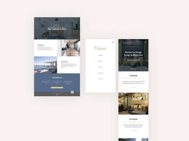 Crishante ux ui design user experience user interface interior design interior design web app crishante