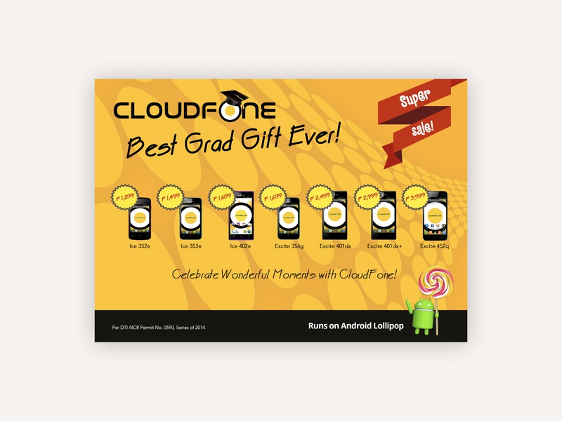 Cloudfone Special Promo marketing design graphic design marketing collaterals mobilephone mobile android promo cloudfone