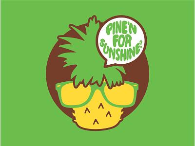 Pine'n for Sunshine? illustration branding sunglasses