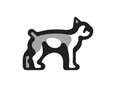 Boston Terrier Illustration Exercise logo dog terrier boston exercise illustration