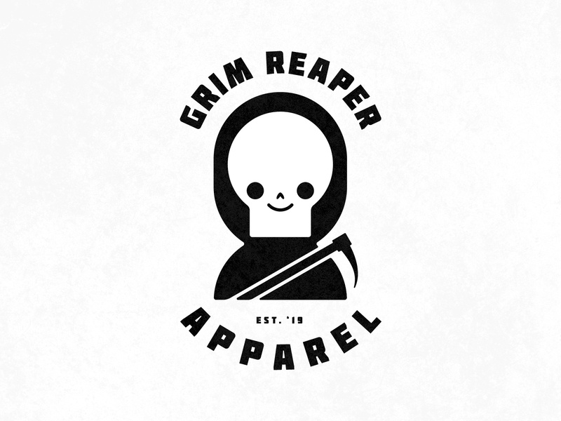 Grim Reaper Apparel design logo branding illustration