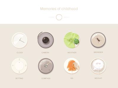 Memories of childhood - circle memory icon childhood